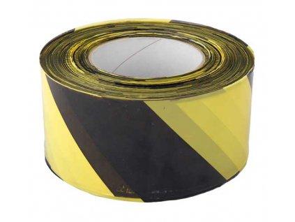 Výstražná páska žluto/černá 70mm x 500m