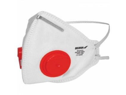 Protiprašný respirátor se 2 ventily FFP1, 1ks, CE DEDRA BH1073