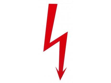 Symbol červený blesk 50x115mm - samolepka