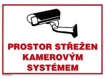 Prostor střežen kamerovým systémem 210x297mm - samolepka