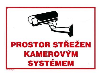 Prostor střežen kamerovým systémem 210x297mm - plastová tabulka