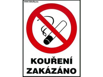 Kouření zakázáno - pro restaurace 120x160mm - samolepka