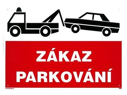 Zákaz parkování - odtah 297x210mm - plastová tabulka MAGG 120113