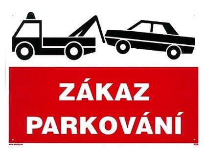 Zákaz parkování - odtah 297x210mm - plastová tabulka