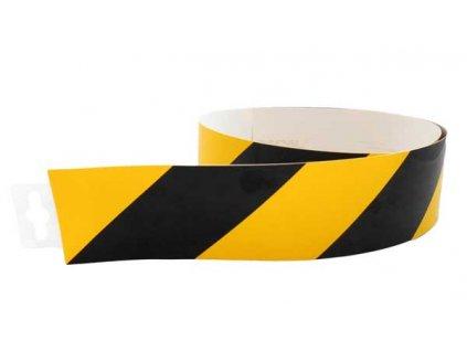Bezpečnostní pás žluto/černý normový (pravý) 980x60mm MAGG 120131