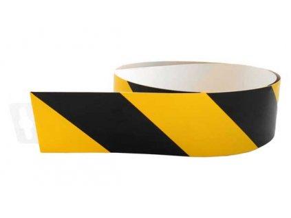Bezpečnostní pás žluto/černý protisměr (levý) 980x60mm
