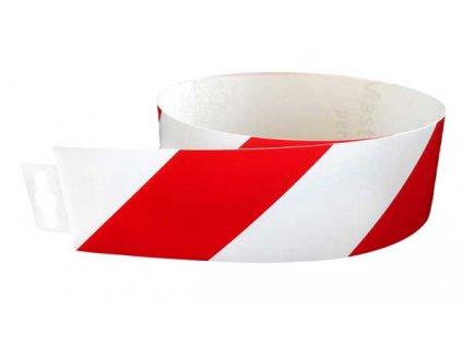 Bezpečnostní pás červeno/bílý normový (pravý) 980x60mm