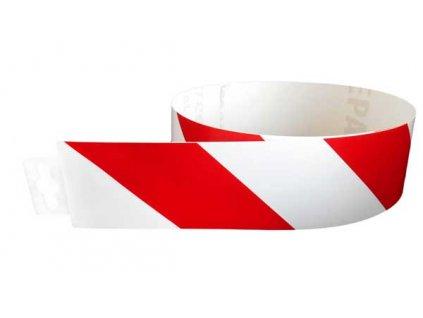 Bezpečnostní pás červeno/bílý protisměr (levý) 980x60mm MAGG 120134