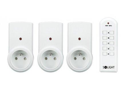 Dálkově ovládané zásuvky - 3x zásuvka + 1x dálkový  ovladač
