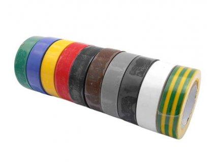 GEKO - Izolační páska 15mm x 10m - různé barvy. 10ks