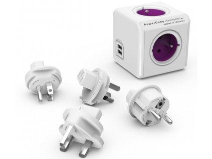 POWERCUBE  REWIRABLE  USB + TP bílá/růžová