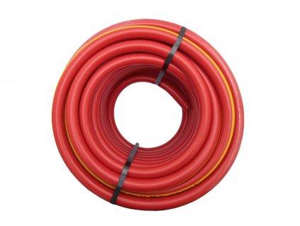 """Zahradní hadice červená - žlutý pruh 1/2"""" - 25m"""