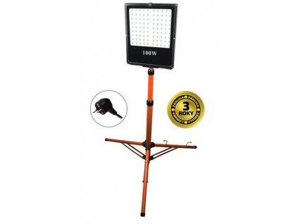 LED venkovní reflektor, 100W, 8500lm, AC 230V, vysoký stojan