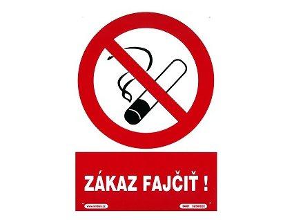 SK - Zákaz fajčiť! 210x297mm - plastová tabulka