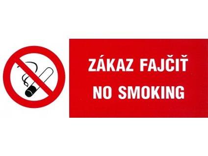 SK - Zákaz fajčiť - No smoking 210x80mm - samolepka MAGG 120174
