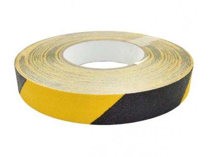 Protiskluzová páska 25mm x 18,3m - žluto-černá MAGG 110066