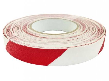 Protiskluzová páska 25mm x 18,3m - červeno-bílá MAGG 110067