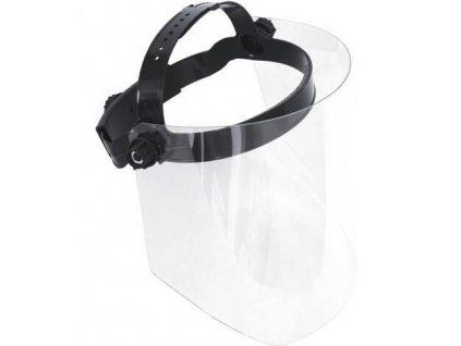 Ochranný obličejivý štít z polykarbonátu