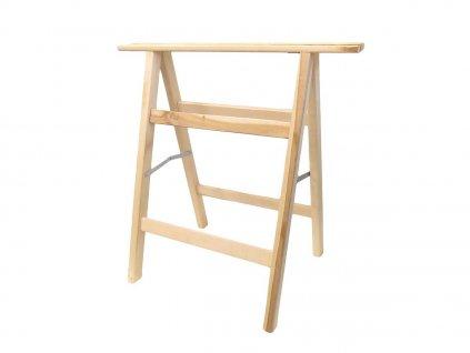 Dřevěná koza z bukového dřeva - 80x75cm MAGG 120182  + bytelná koza z opracovaného dřeva