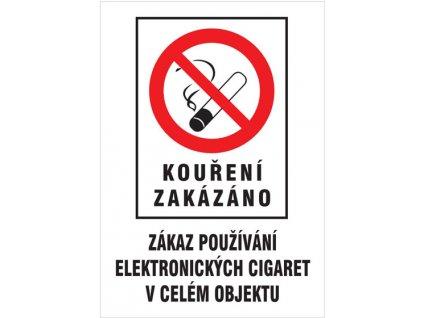 Kouření zakázáno - Zákaz používání el. cigaret - plastová