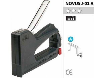J-01 A ruční sponkovačka-sada vč.2000 ks spon NOVUS 4009729013458