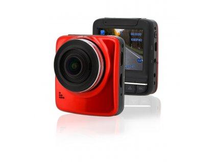 """Kamera do auta Full HD 2,4"""" červená GPS Compass 33613"""