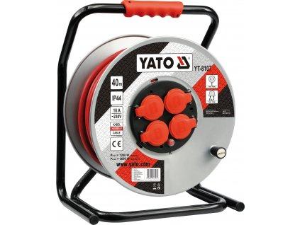 Prodlužovák bubnový 40 m plast Yato YT-8107