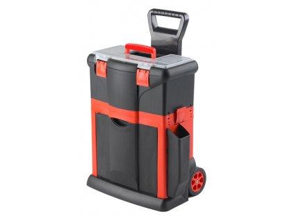 Plastový pojízdný kufr, tažná rukojeť 460x330x620mm