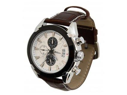 Hodinky CHRONO WHITE Compass Cattara 13719