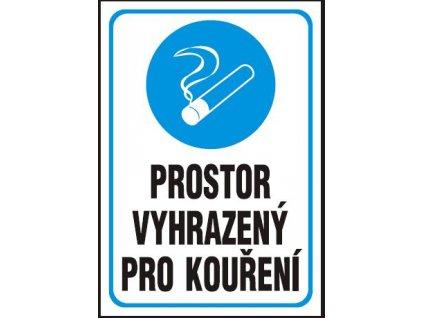 Prostor vyhrazený pro kouření - samolepka A4 MAGG 120223