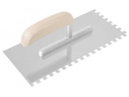 Hladítko nerezové 270x130 mm zub 12mm - dřevěná rukojeť