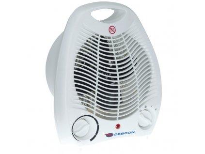Elektrický přímotop 1000/2000 W DESCON DA-T200  + termostat a vestavěný ventilátor