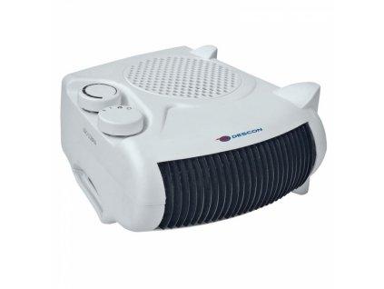 Elektrický přímotop 1000/2000 W  + termostat a vestavěný ventilátor