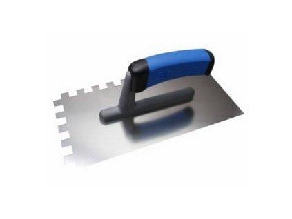 Hladítko na lepidlo, nerezové 270x130 mm, zub 4mm - dvousložková rukojeť