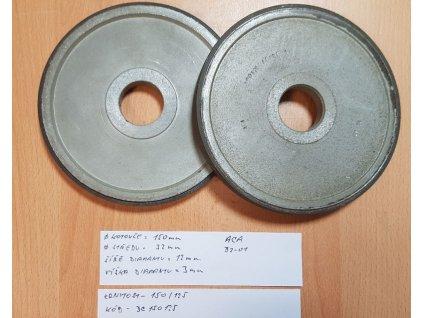 Diamantový brusný kotouč na tvrdokov - obvodový 150x32 mm P150/125