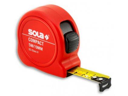 Compact CO 8m x 25mm svinovací metr SOLA 50500801