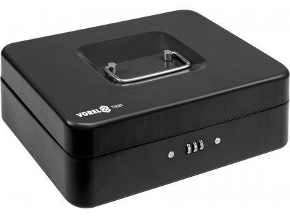 Pokladna příruční 250x180x90mm černá Vorel TO-78628