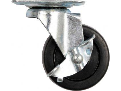 Kolečko otočné, polypropylenové s brzdou 30kg 65/23/84mm