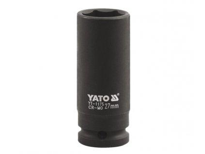 "Nástavec 1"" rázový šestihranný hluboký 27 mm CrMo Yato YT-1175"