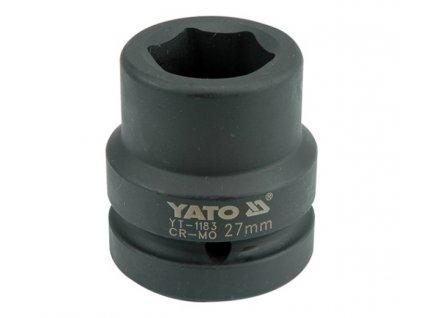 """Nástavec 1"""" rázový šestihranný 27 mm CrMo Yato YT-1183"""