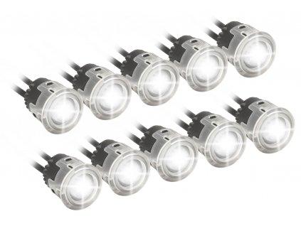 Světla denního svícení 5+5 HIGH POWER LED 12V/24V Compass 33552