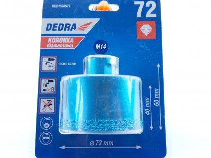 Diamantová vrtací korunka Vacuum brazed do úhlové brusky, průměr72mm DEDRA DED1590S72  + doporučujeme na elektrikářskou krabičku do obkladu