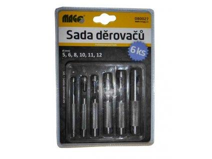 Sada děrovačů do kůže a tvrdého papíru - 5, 6, 8, 10, 11, 12 mm MAGG 080027