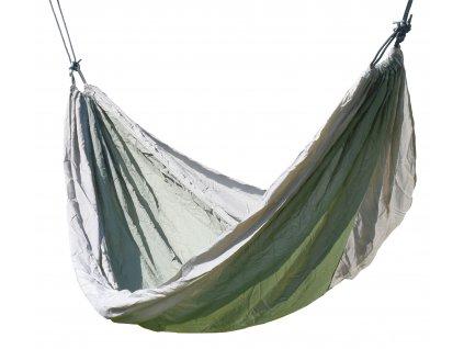 Houpací síť NYLON 275x137cm zeleno-hnědá Cattara 13565