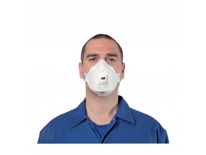 3m aura 9322 ffp2 valved flat fold disposable respirator mask p71 317 image