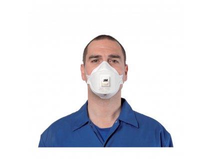 3m aura 9322 ffp2 valved flat fold disposable respirator mask p71 317 image