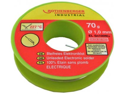 Bezolovnatá elektronická pájka 70g ROTHENBERGER 1000002349