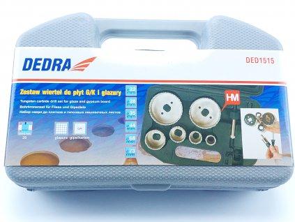 Sada wolframových vrtacích korunek na obklad v plastovém kufru DEDRA DED1515