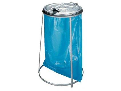 Stojan s víkem na odpadkové pytle 110l žárově zinkovaný