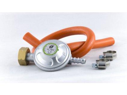 Příslušenství pro plynová kamna - regulátor na velkou PB lahev 30 mbar + hadice 8mm/50cm se sponami MAGG 110004